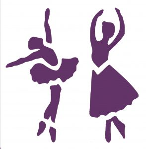 6x6 ballerina duo purple front
