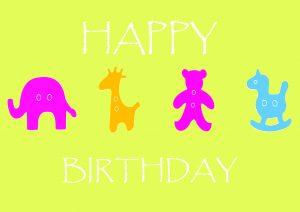 7x5 animal ark yellow birthday1