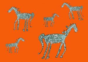7x5 the herd orange